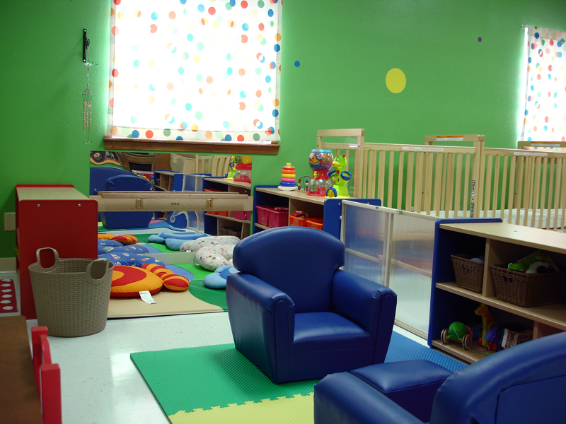 Another viwe of home area and non-mobile infant area.