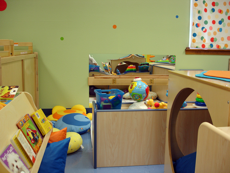 Our cozy library area and non-mobile infant area